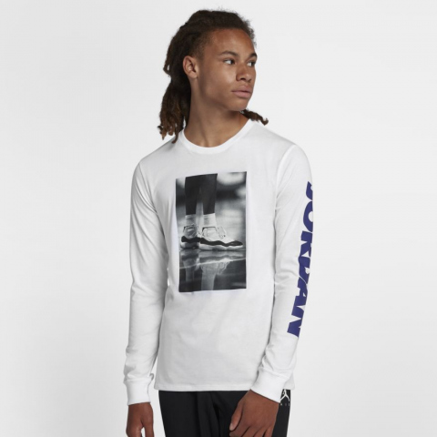 buy online 97a5b 5d750 LEGACY JORDAN 11 LS PHOTO TEE | Jordan | BQ0265-100 | Double ...