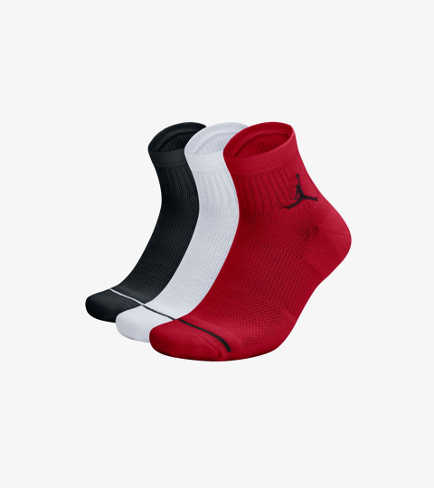 81c77a123ad JUMPMAN 3PACK QUARTER SOCKS | Jordan | SX5544-011 | Double Clutch
