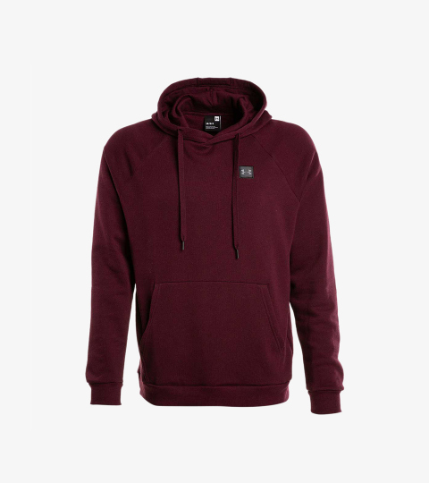e29135b19 RIVAL FLEECE HOODIE RED | Under Armour | 1320736-600 | Double Clutch