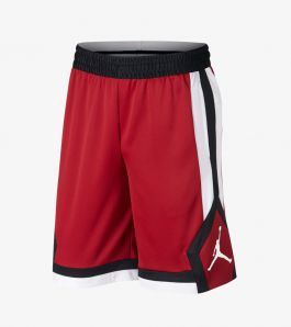 JORDAN DRY RISE 1 SHORT GYM RED