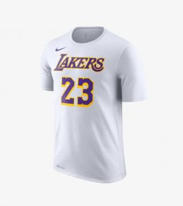 JAMES LAKERS TEE WHITE