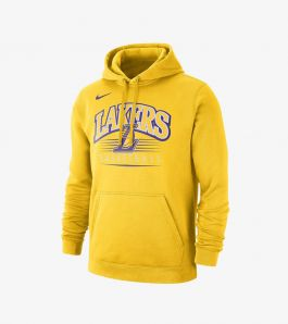 LAKERS HOODIE CREST YELLOW