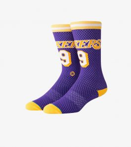 NICK VAN EXEL 94 LAKERS SOCKS