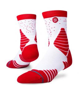 GAMEDAY QTR SOCKS RED