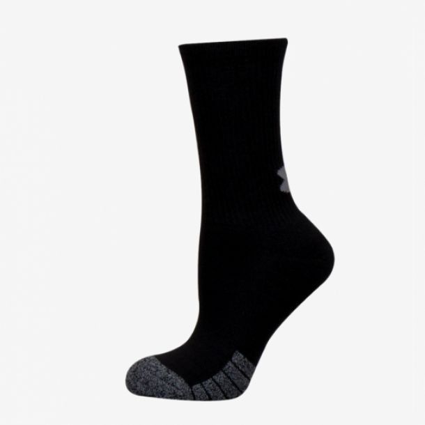 HEATGEAR 3PK CREW SOCKS BLACK