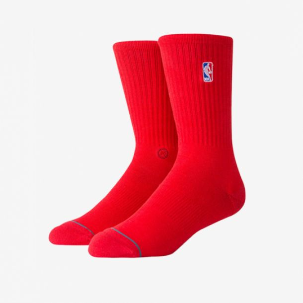 NBA LOGOMAN CREW II SOCKS RED