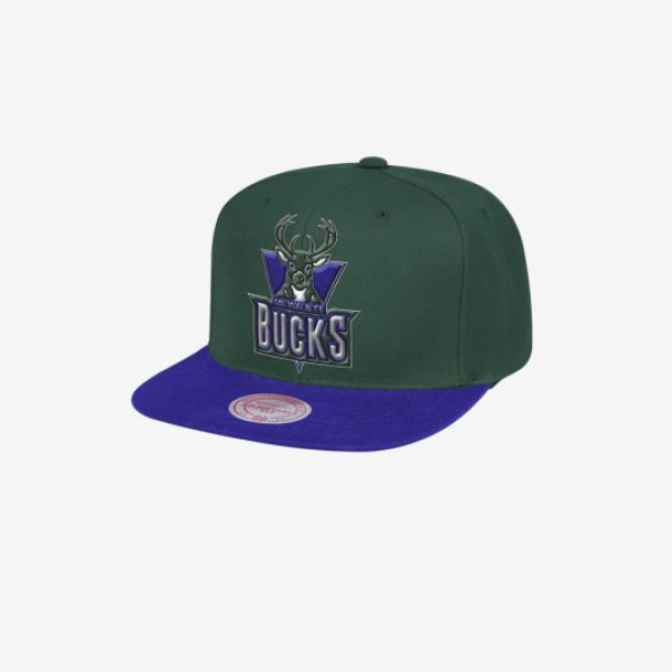 BUCKS TEAM LOGO 2 TONE SNAPBACK