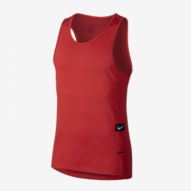 KNIT TOP SLEEVELESS RED