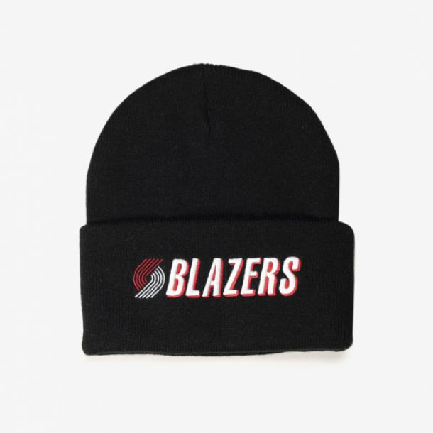 BLAZERS TEAM LOGO CUFF KNIT