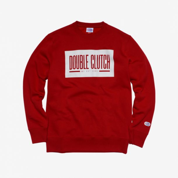 DOUBLE CLUTCH BOX LOGO CREW RED