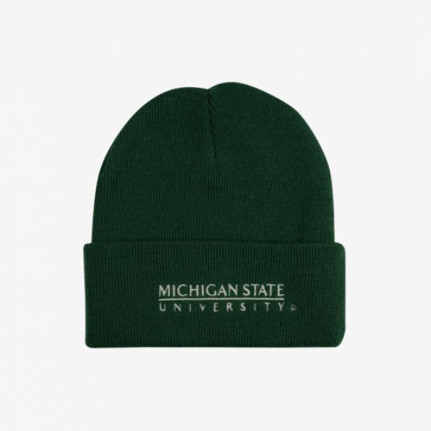 MICHIGAN STATE LOGO CUFF KNIT
