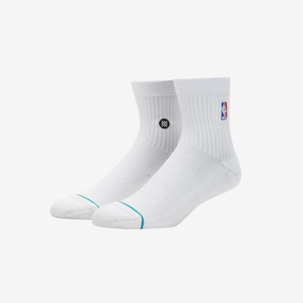 NBA LOGOMAN QTR SOCKS WHITE