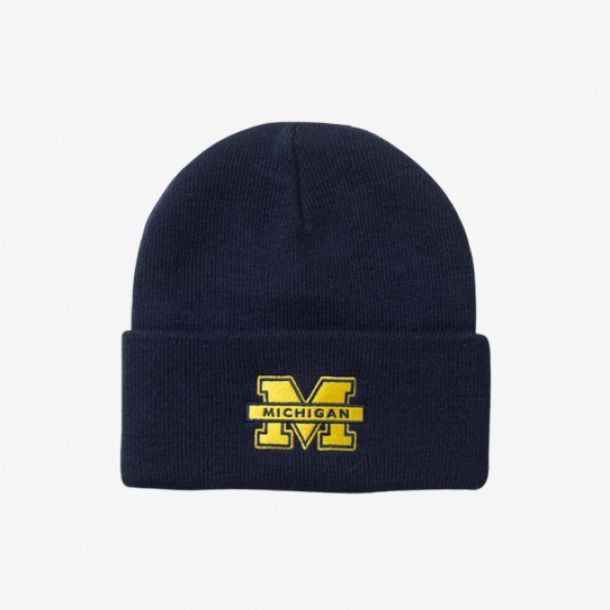 MICHIGAN LOGO CUFF KNIT
