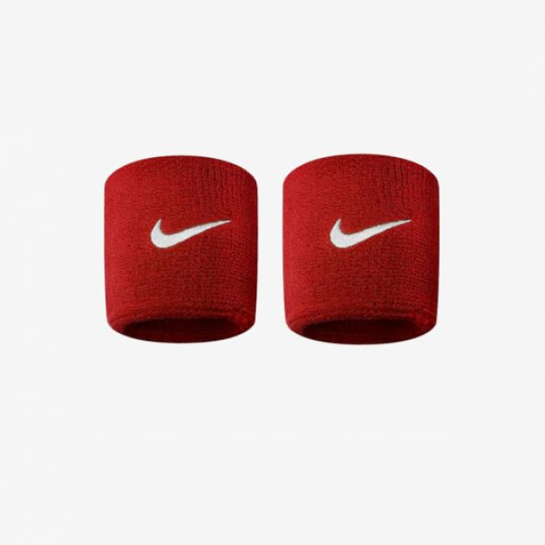 SWOOSH WRISTBANDS RED