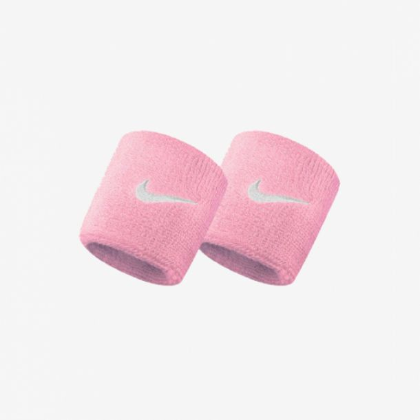 SWOOSH WRISTBANDS PALE PINK