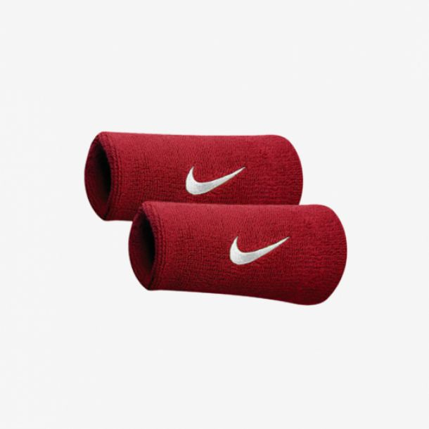 SWOOSH DOUBLEWIDE WRISTBAND RED