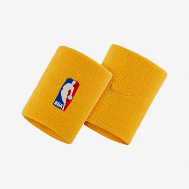 NBA WRISTBAND UNIVERSITY GOLD
