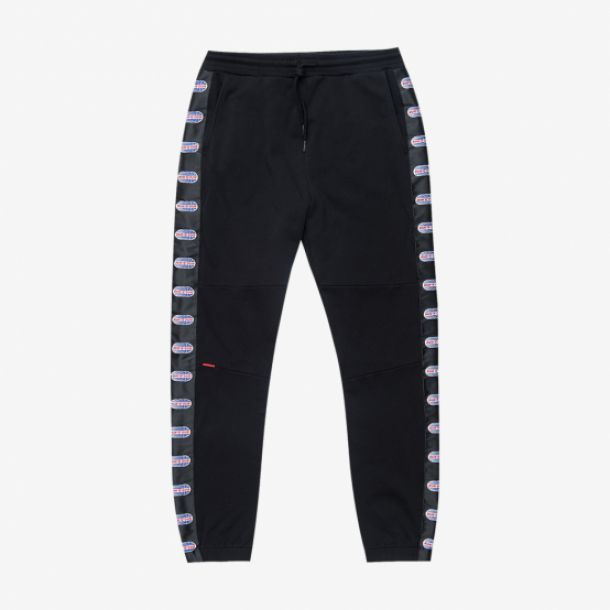RUN N GUN SIDE STRIPE PANT BLACK