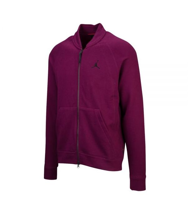 WINGS FLEECE BOMBER JACKET Bordeaux