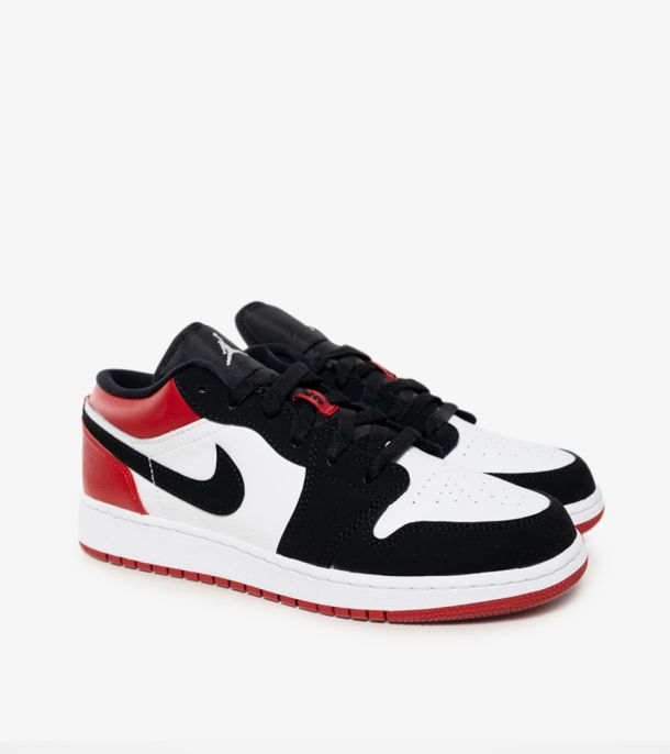 JORDAN 1 LOW BLACK TOE GS