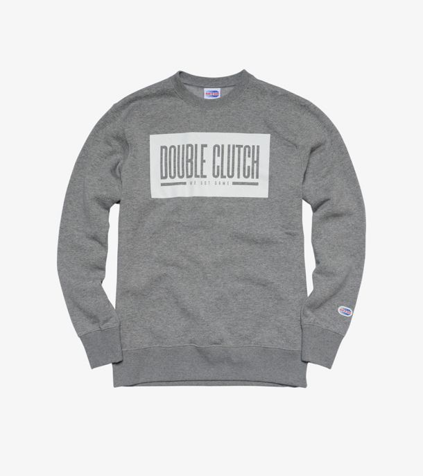 DOUBLE CLUTCH BOX LOGO CREW GREY