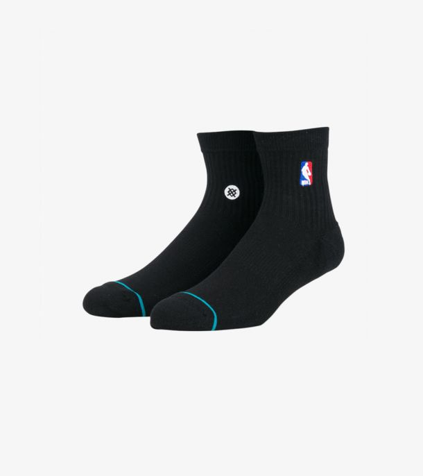NBA LOGOMAN QTR SOCKS BLACK