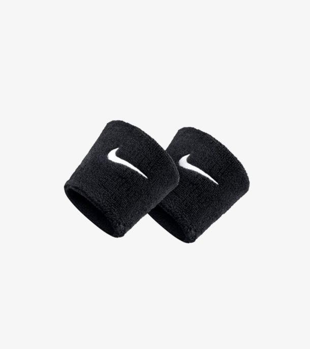 SWOOSH WRISTBAND BLACK