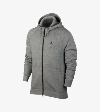 WINGS FLEECE HOODY GREY