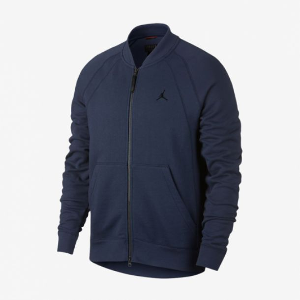WINGS FLEECE BOMBER NAVY