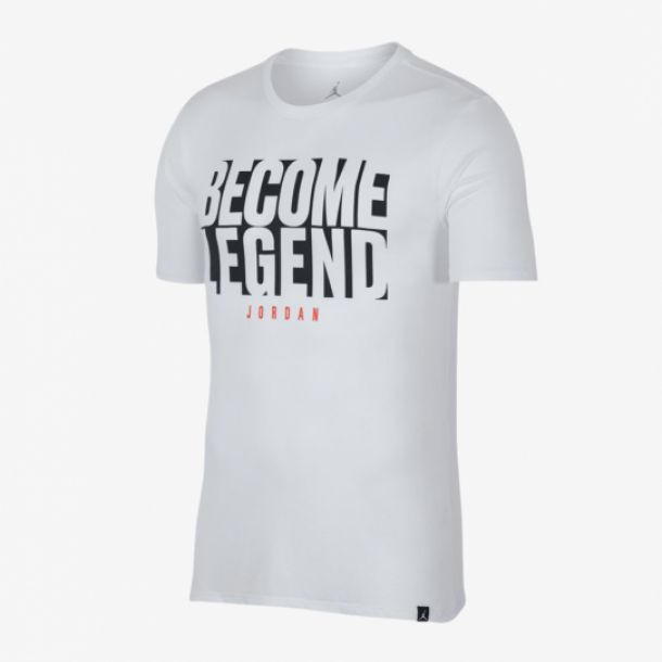 JORDAN BECOME LEGEND TEE WHITE
