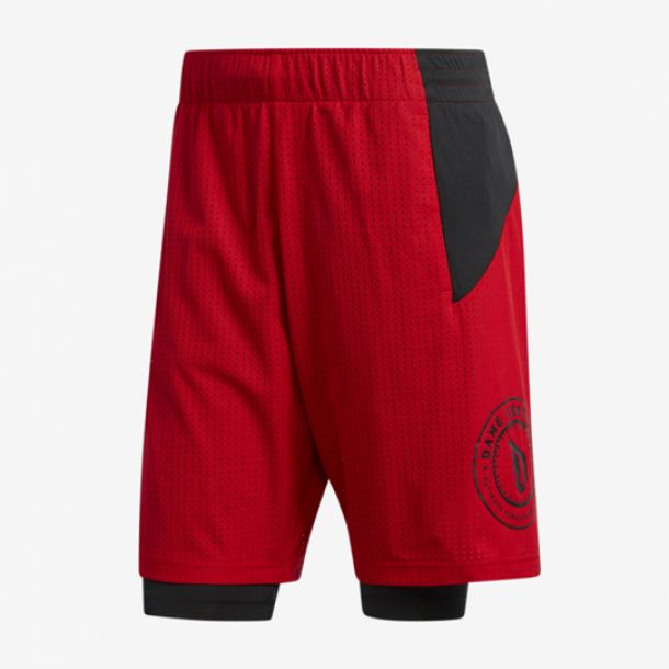 DAME 2IN1 SHORT RED