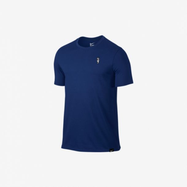 EMBROIDERED  TEE BLUE