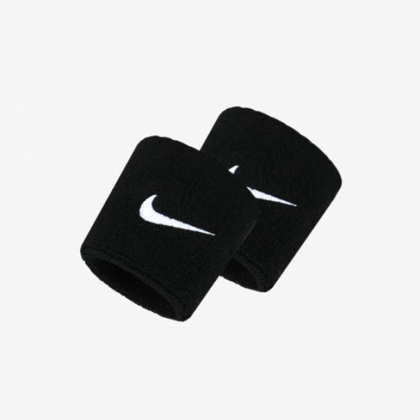 SWOOSH WRITBANDS BLACK
