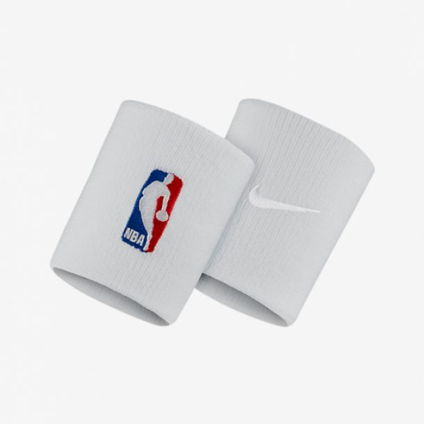 NBA WRISTBAND WHITE