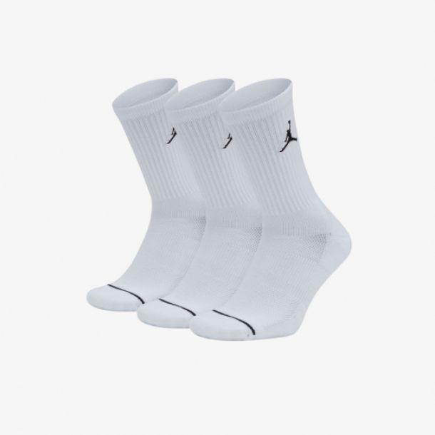 JUMPMAN 3PACK CREW SOCKS WHITE