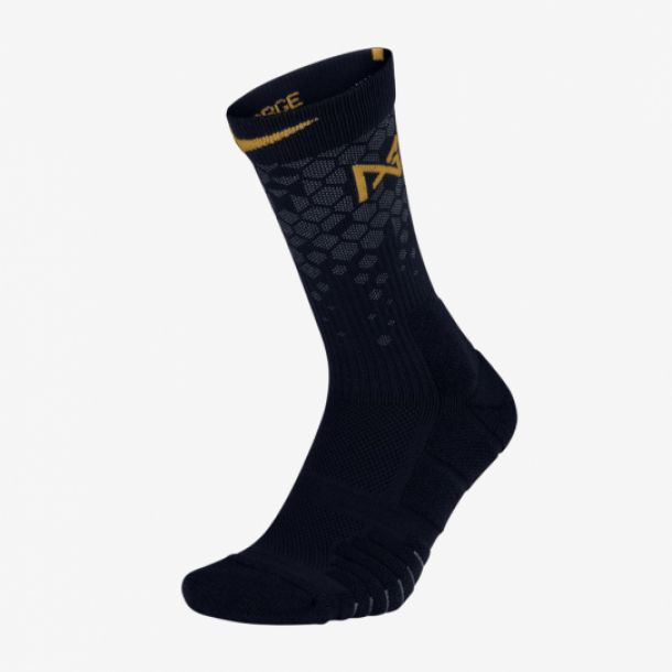PG QUICK CREW SOCKS BLACK GOLD