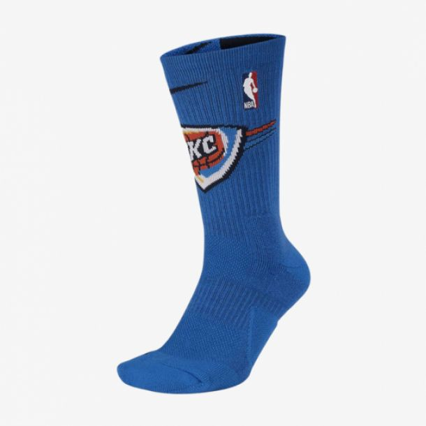 THUNDER NBA ELITE CREW SOCKS