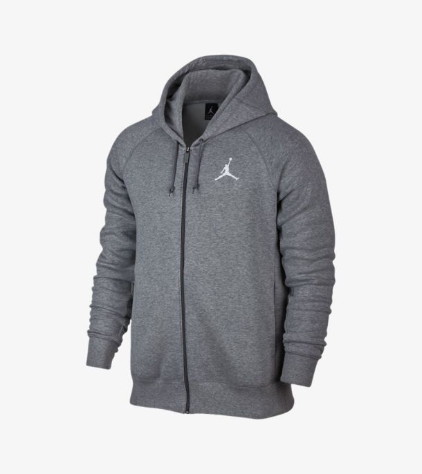 JORDAN FLIGHT FLEECE FULL ZIP GREY