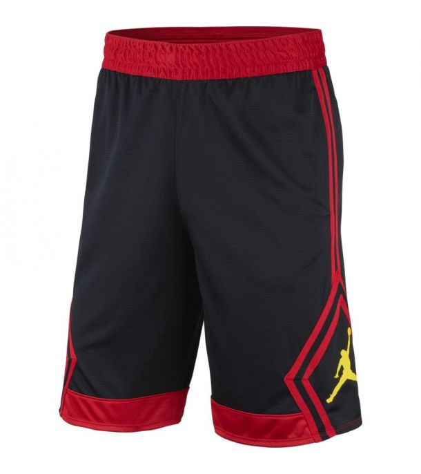 RISE DIAMOND SHORT BLK/red