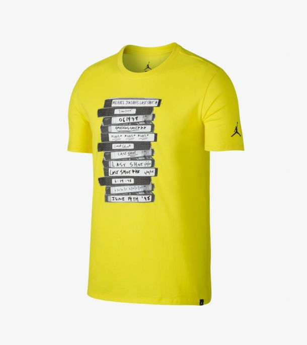 JORDAN LAST SHOT TEE YELLOW