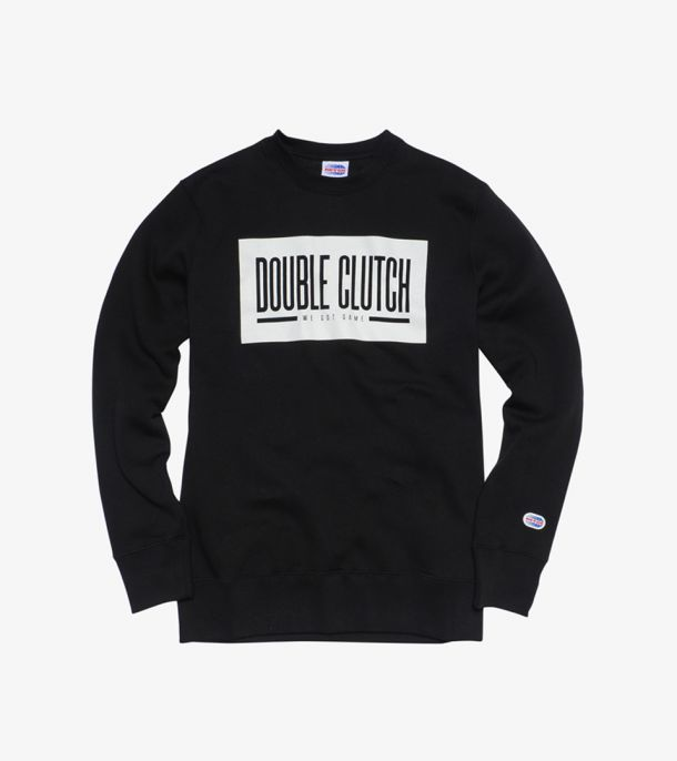 DC SWEATSHIRT CREW BLACK