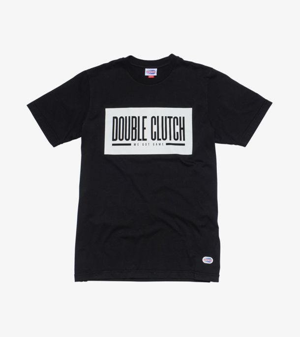 DOUBLE CLUTCH BOX LOGO TEE BLACK