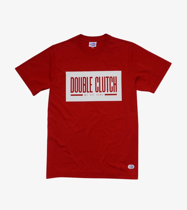 DOUBLE CLUTCH BOX LOGO TEE RED
