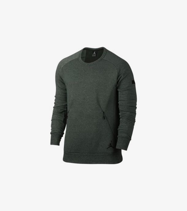 ICON FLEECE CREW GROVE GREEN