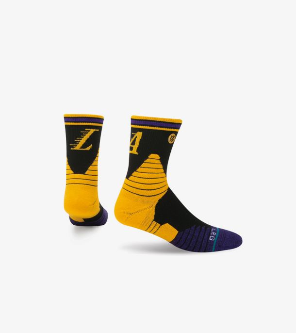 LAKERS LOGO QTR SOCKS