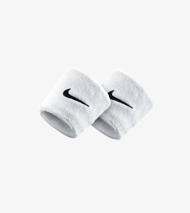SWOOSH WRITBANDS WHITE