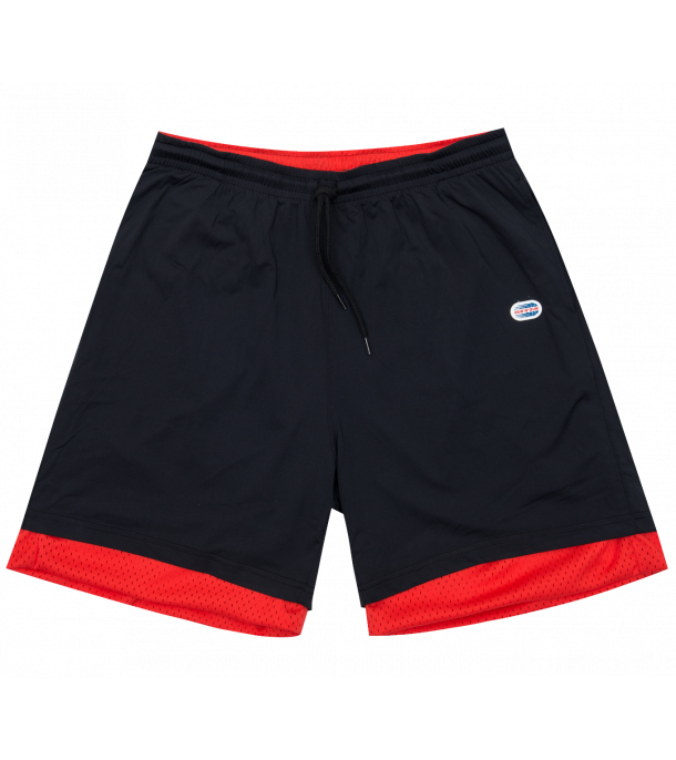 RUN N GUN REVERSIBLE SHORT BLACK RED