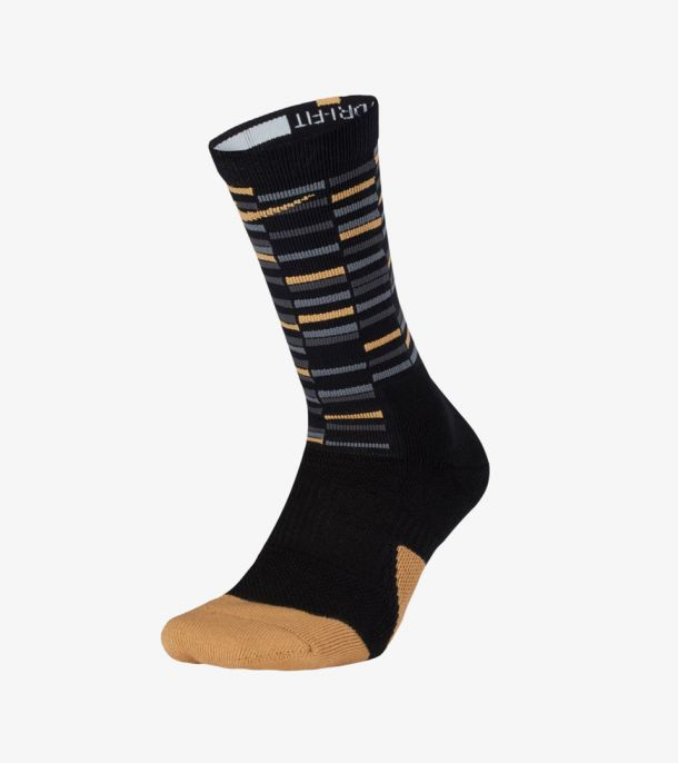 ELITE1.5 CREW SOCKS BLACK GOLD