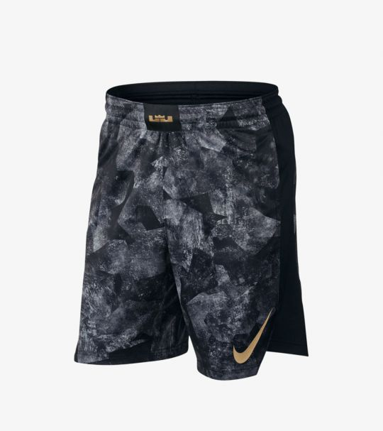 NIKE LEBRON ELITE SHORTS ANTHRACITE